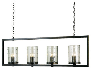 Longhope Rectangular Chandelier Currey In A Hurry