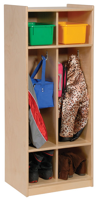 Steffywood Kids Storage Toy Books Bag Shoe Coat Hooks Two Section Locker - Contemporary - Shoe ...