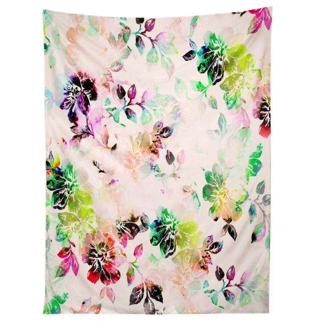 deny designs cayenablanca romantic flowers tapestry modern wandteppiche. Black Bedroom Furniture Sets. Home Design Ideas