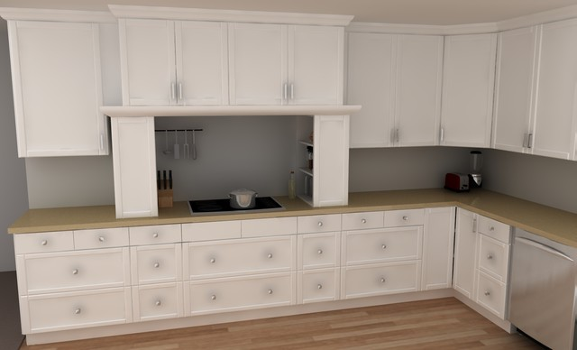 Cuisine Tres Design : Traditional IKEA kitchen  ADEL white  Classique  Cuisine  other