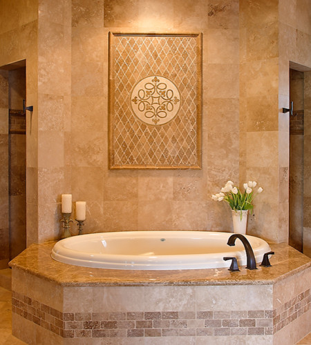 Master Bath Tub And Shower Area