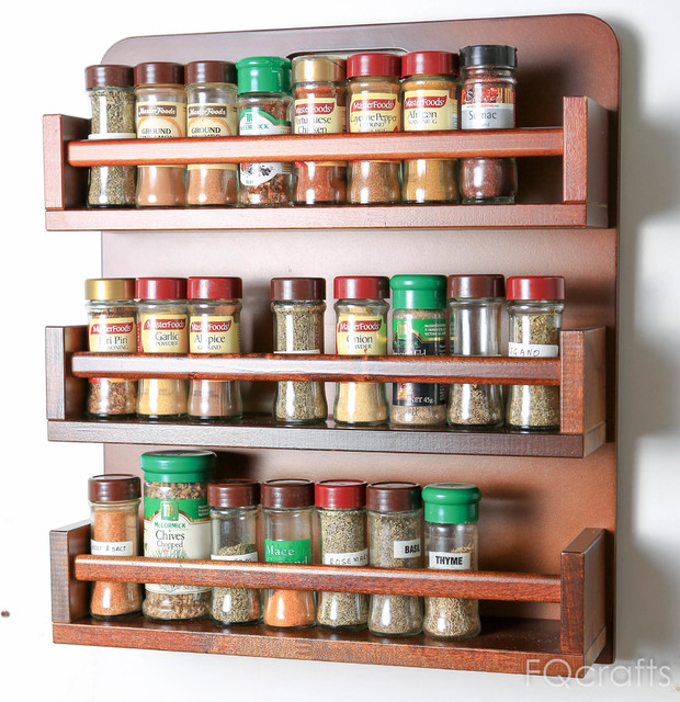Wooden Herb And Spice Rack