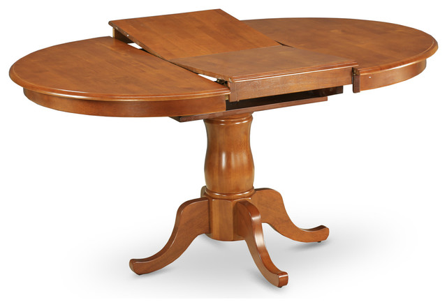 Portland Pedestal Oval Dining Table With Extension  : traditional dining tables from www.houzz.co.uk size 640 x 440 jpeg 44kB