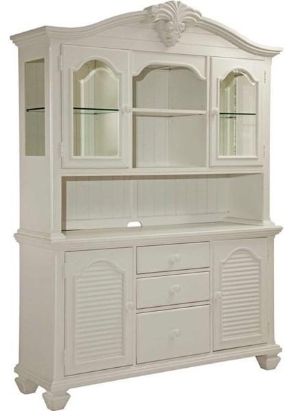 Broyhill Furniture - Mirren Harbor Storage China Cabinet in White - 4024-565-566 - Contemporary ...