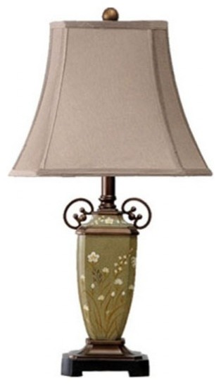 carving two ears table lamp traditional table lamps raleigh by. Black Bedroom Furniture Sets. Home Design Ideas