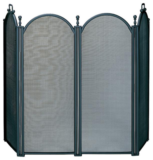 4 fold large diameter screen transitional fireplace screens by blue rhino uniflame - Houzz fireplace screens ...