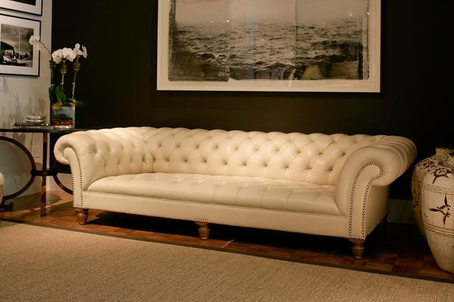 Cream Leather Chesterfield Sofa Traditional Sofas north west by Bartou& Mason