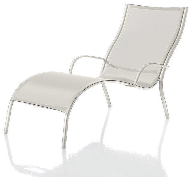 Paso Doble Lounge Chair White White Modern Outdoor Chaise Lounges by S