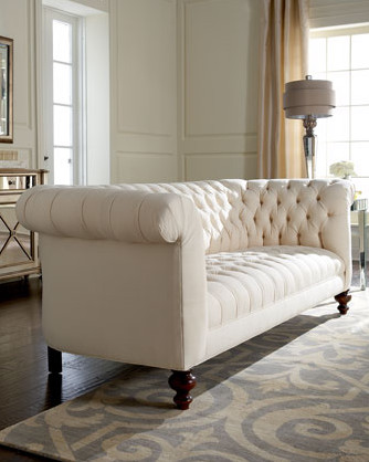 Old Hickory Tannery Ellsworth Tufted Sofa Traditional