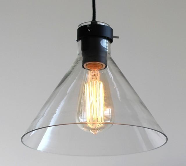 Commercial Lighting In Phoenix: LOFT Industrial Glass Pendant Lighting In Black