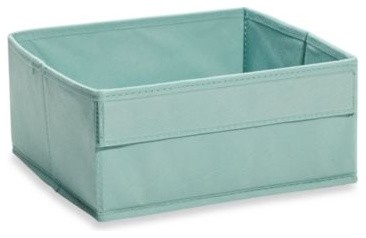 Real Simple Shallow Fabric Drawer In Blue Contemporary