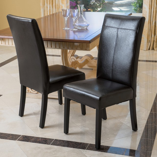 Christopher Knight Home Lissa Black Polyurethane Dining