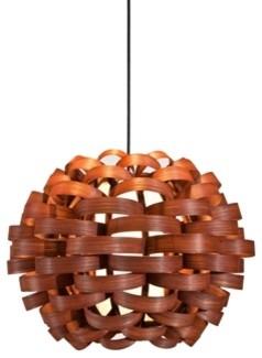 Woven Sphere Pendant Contemporary Lighting