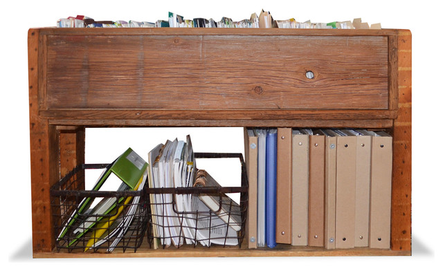 Reclaimed Wood File Storage - Rustic - Filing Cabinets ...