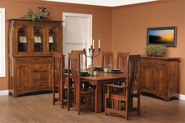 Mission dining room set craftsman furniture tampa Craftsman furniture