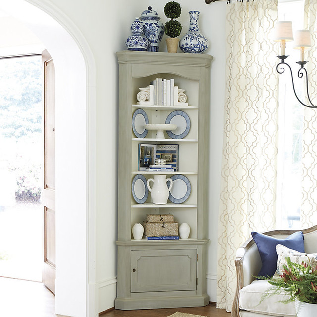 Marlene Corner Display Cabinet - Contemporary - Buffets And Sideboards - by Ballard Designs