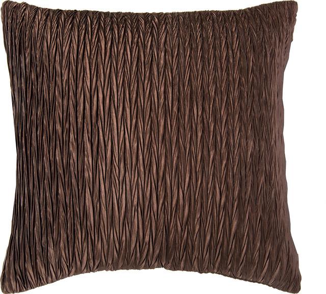 Brown Textured Throw Pillow : Shiny Texture Pillow, Dk Brown, 18