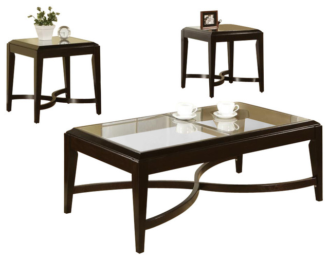 Mayfield 3 Pc Occasional Table Set Contemporary Coffee