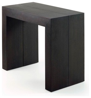 Table console extensible penta couleur noir modern - Table console extensible noir ...