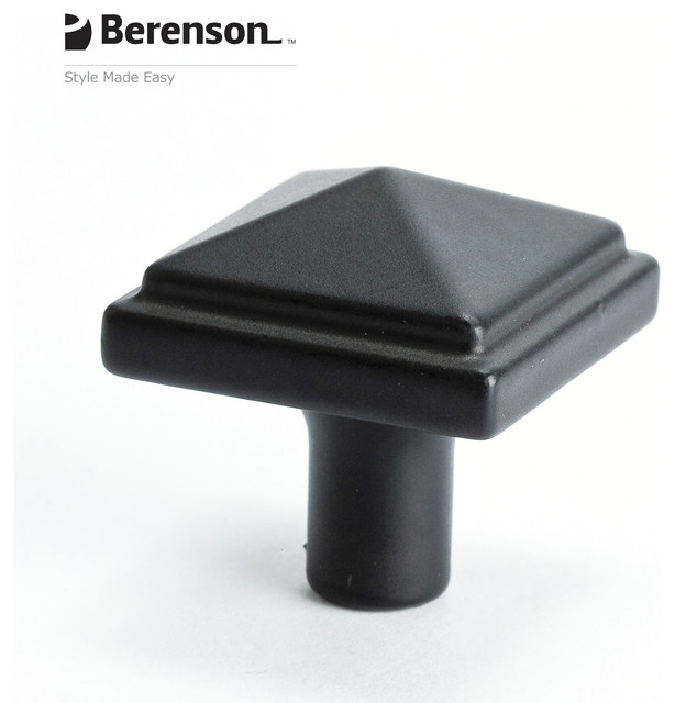 Black Cabinet Knob by Berenson - Craftsman - Cabinet And Drawer Knobs ...