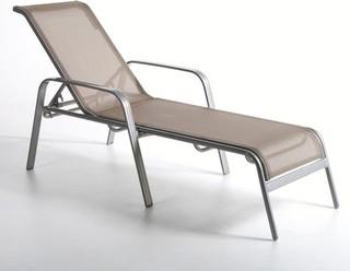 Chaise longue bain de soleil textil ne contemporain - La chaise longue saint lazare ...