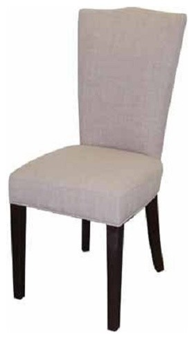 Fabric Dining Chair Light Gray Contemporary Dining Chairs
