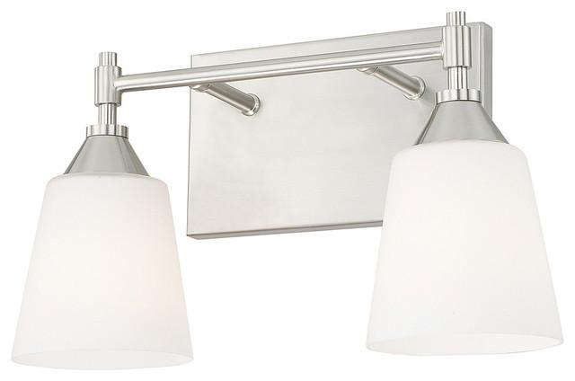 Capital Lighting 4 Light Vanity Fixture Brushed Nickel: Capital Lighting Langley Collection 2 Light Vanity