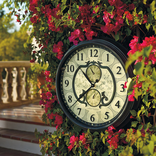 Lavina outdoor clock traditional outdoor clocks by for Garden treasures pool clock