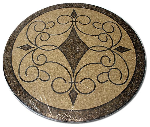 Stone Medallion Inlays : Mosaic polished floor medallions tile medallion marble