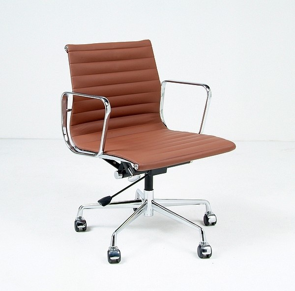 Eames ealum thin pad office chair mid back reproduction for Design classics furniture reproductions