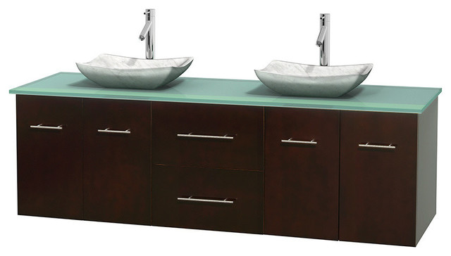 Glass Sink Unit : ... Glass Countertop and Sinks contemporary-bathroom-vanity-units-and-sink