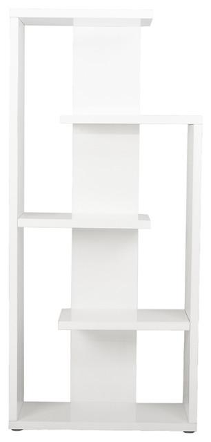 Robbie shelving unit white lacquer modern bookcases - Modern white shelving unit ...