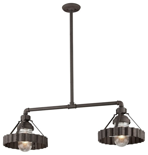 Troy Lighting Canary Wharf Kitchen Island Light Industrial Pendant Lighting By Alinda