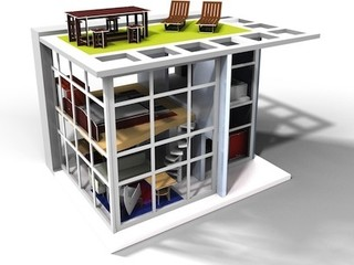 Midcentury Modern Dollhouse and Furniture - Modern - Kids Toys And Games - by Stephmodo