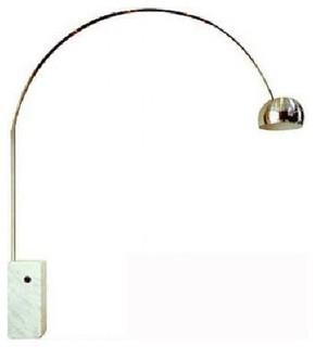 gold plated aluminum arc floor lamp with marble base modern floor. Black Bedroom Furniture Sets. Home Design Ideas