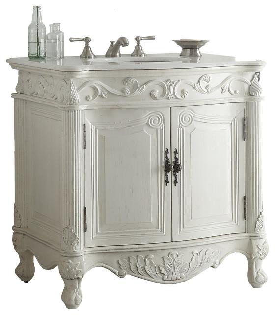 fiesta sink vanity antique white 32 traditional
