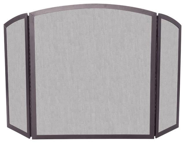 3 Fold Bronze Screen Fireplace Screens By Blue Rhino