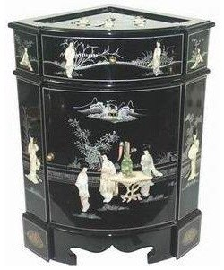 Small Corner Cabinet - Traditional - Accent Chests And Cabinets - by Oriental Furniture