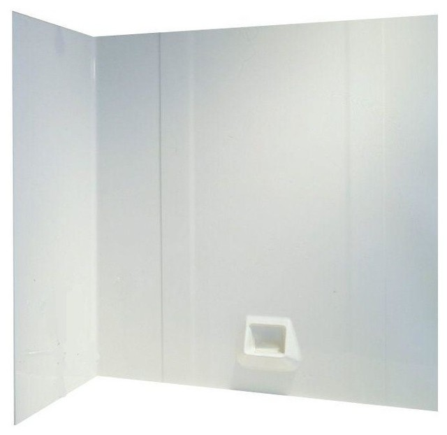 Easy Up Adhesive Tub Wall White 3 Piece 30 X60 X58 Tradi