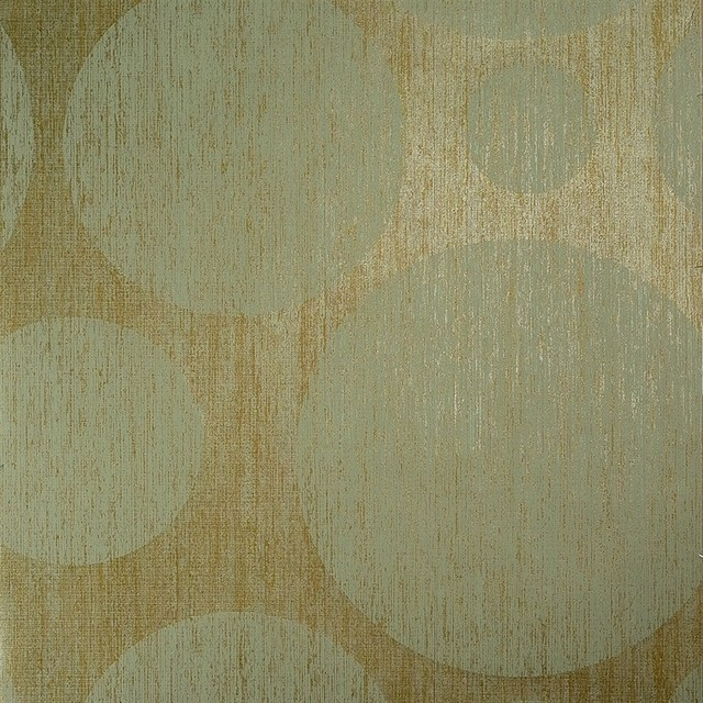 contemporary geometric metallic circle gold wallpaper