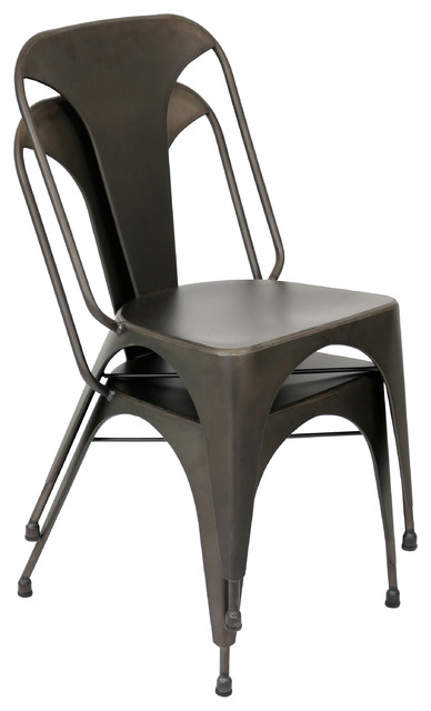 Pair of austin dining chairs industrial sillas de for Sillas para comedor industrial