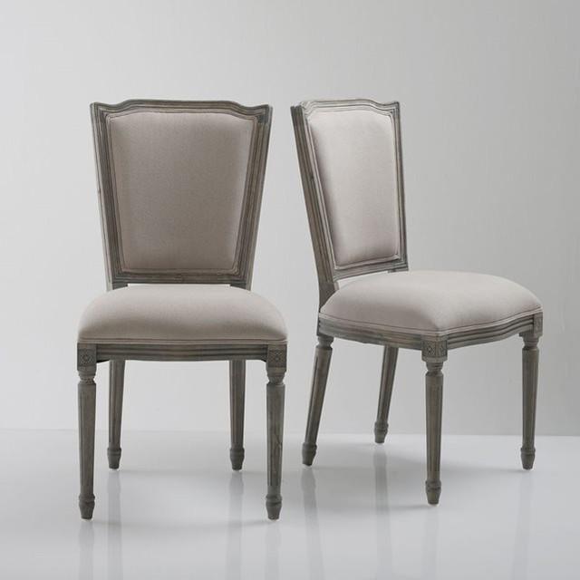 Chaise style louis xvi velours lot de 2 trianon - La redoute chaises salle a manger ...