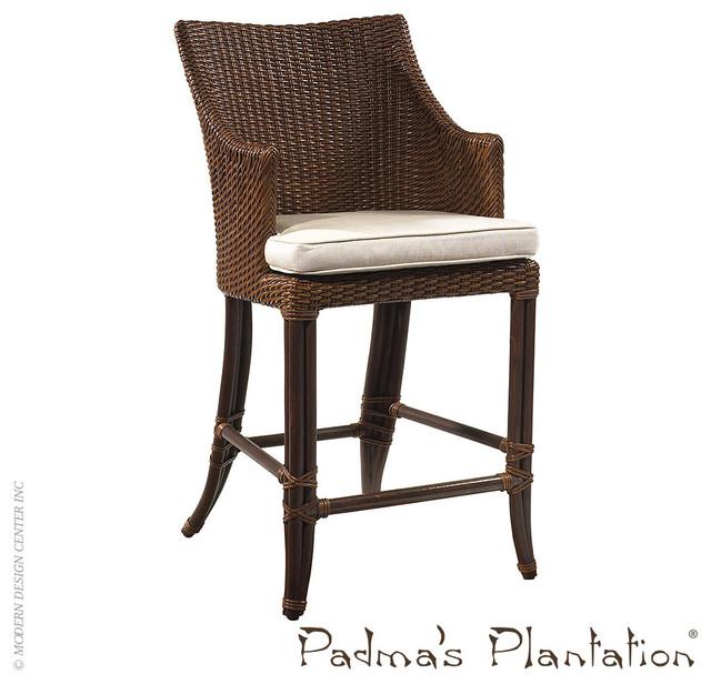 Padma S Plantation Palm Beach Outdoor Counter Stool