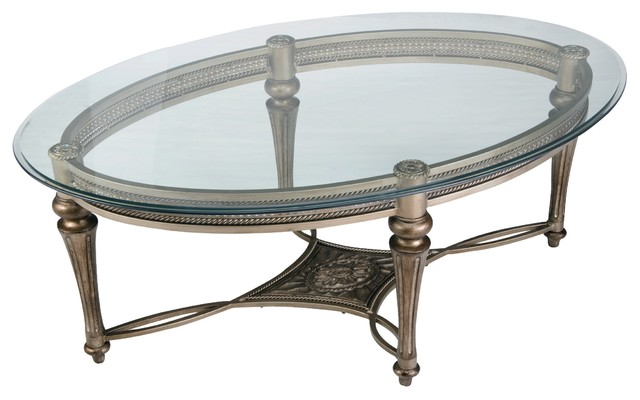 Galloway Glass Coffee Table Traditional Coffee Tables Other Metro By Raymour Flanigan