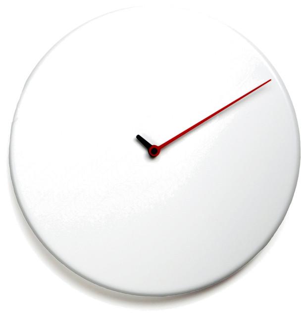 Less 1865 White Wall Clock Contemporary Wall Clocks