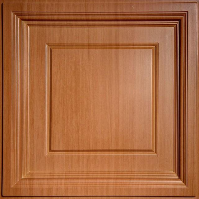 Drop Ceiling Tiles: Ceilume Building Materials Madison Faux Wood-Caramel 2 ft. - Contemporary ...