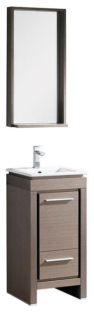 Fresca Allier 16 Gray Oak Modern Bathroom Vanity With Mirror Modern