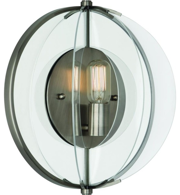 Half Circle Wall Lights : Robert Abbey-D3375-Latitude - One Light Half Round Wall Sconce - Transitional - Wall Lighting
