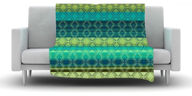 Nina may denin diamond gradient green turquoise emerald - Emerald green throw blanket ...