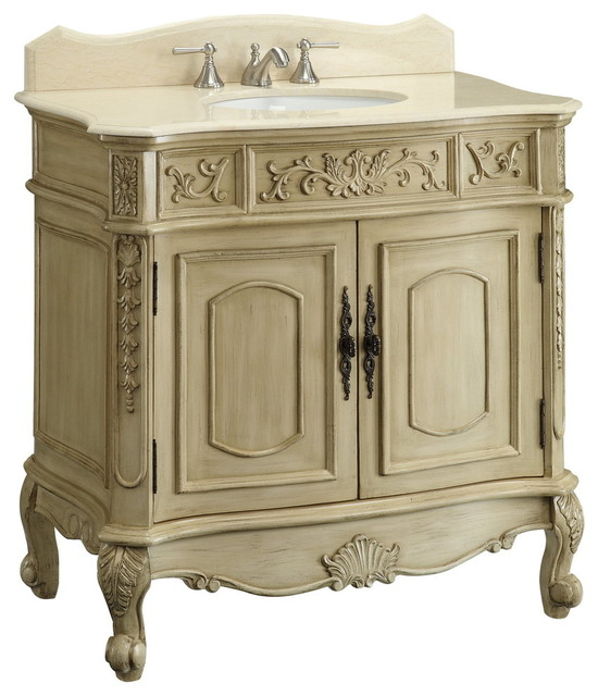 Antique Bathroom Vanity Cabinet: Antique White Belleville Bathroom Sink Vanity